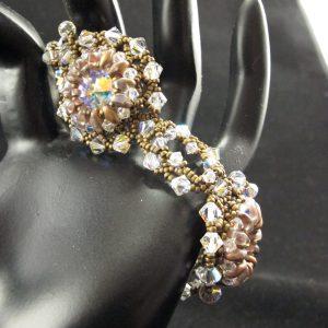 Swarovski AB Rivoli and Crystal Bracelet