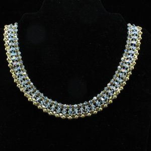 Swarovski Crystal & Gold Collar