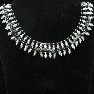 Black Tila with Swarovski Crystals