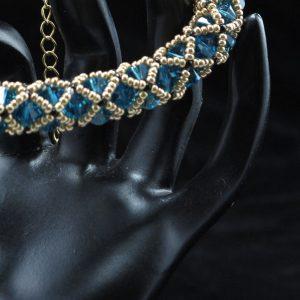 Indicolite Swarovski Netted Bracelet